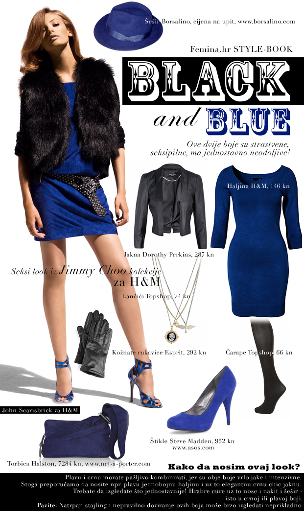 black and blue, stylebook