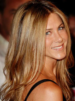 jennifer aniston, kosa