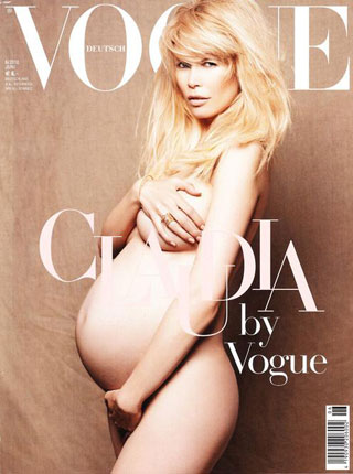 claudia schiffer, vogue