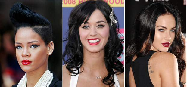 rihanna, katy perry, megan fox
