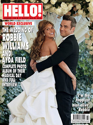robbie williams i ayda field, vjenčanje