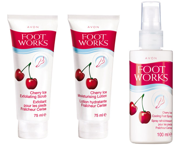 avon cherry foot works, njega stopala