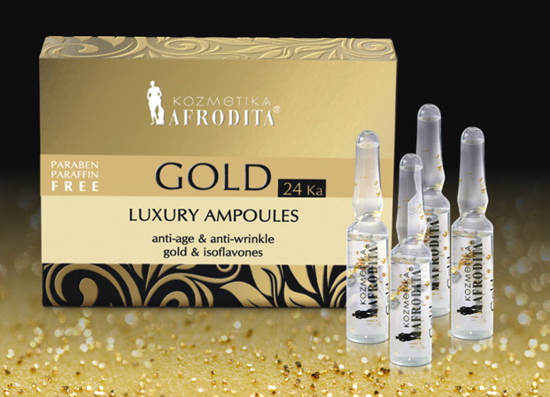 afrodita gold 24 ka luxury ampule