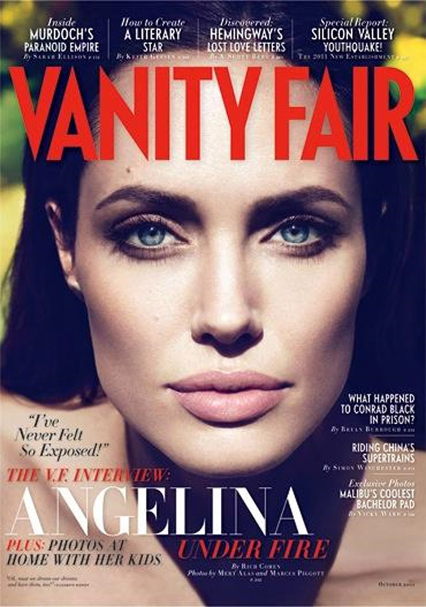 angelina jolie, vanity fair 2011
