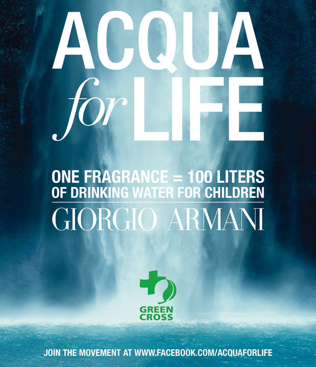 armani, acqua for life