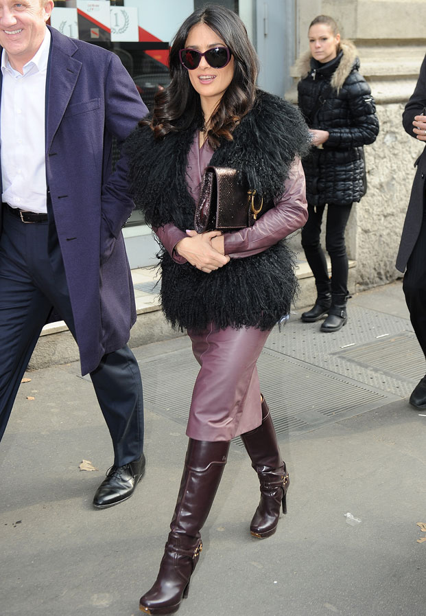 salma hayek, gucci, milan fashion week 2013
