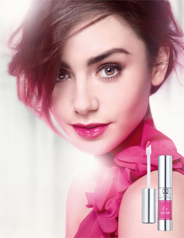 lancome lip lover lily collins