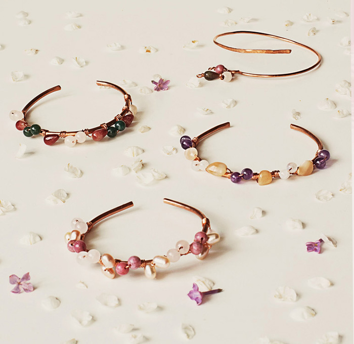 whisper of nature bloom bangles