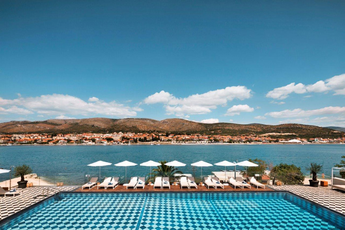 trogir brown beach house